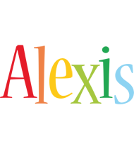 Alexis birthday logo
