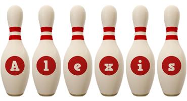 Alexis bowling-pin logo