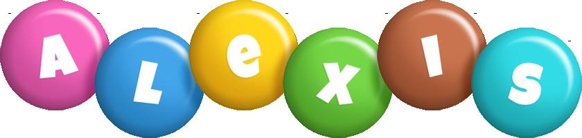 Alexis candy logo