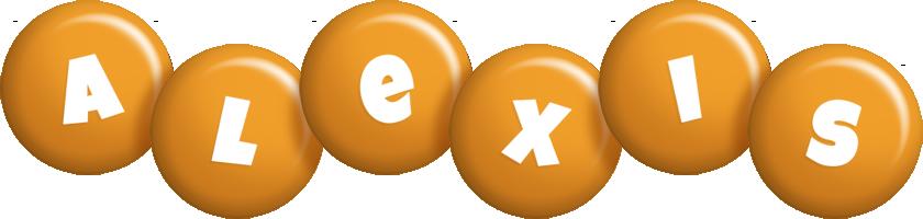 Alexis candy-orange logo