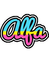 Alfa circus logo