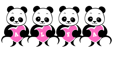 Alfa love-panda logo