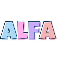 Alfa pastel logo