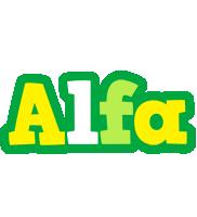 Alfa soccer logo