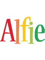 Alfie birthday logo