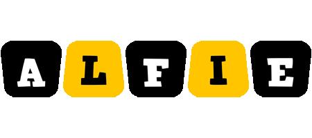 Alfie boots logo