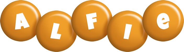 Alfie candy-orange logo