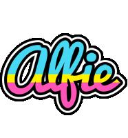 Alfie circus logo