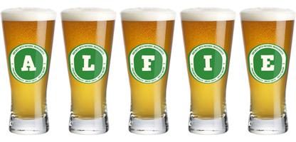 Alfie lager logo