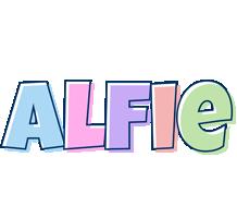 Alfie pastel logo