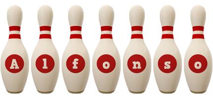 Alfonso bowling-pin logo