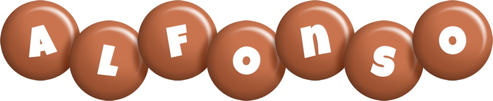 Alfonso candy-brown logo