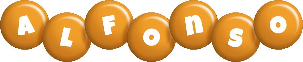 Alfonso candy-orange logo
