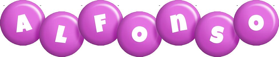 Alfonso candy-purple logo