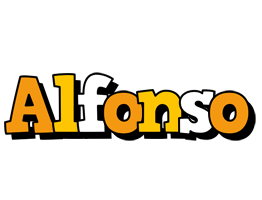 Alfonso cartoon logo