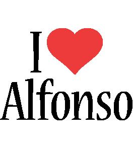 Alfonso i-love logo