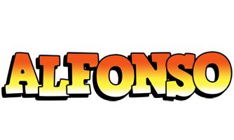Alfonso sunset logo
