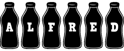 Alfred bottle logo