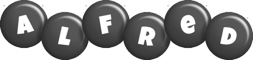 Alfred candy-black logo