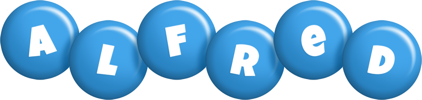 Alfred candy-blue logo