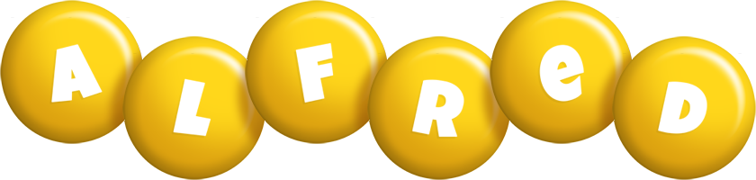 Alfred candy-yellow logo