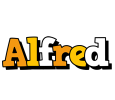 Alfred cartoon logo
