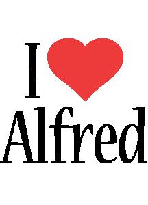 Alfred i-love logo