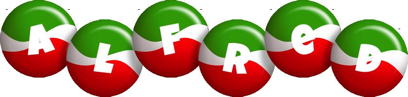 Alfred italy logo