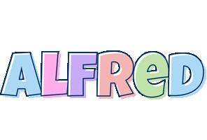 Alfred pastel logo