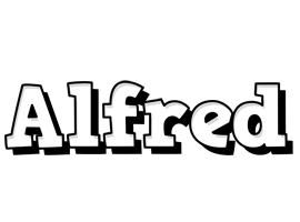 Alfred snowing logo