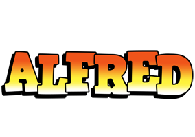 Alfred sunset logo