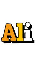 Ali cartoon logo