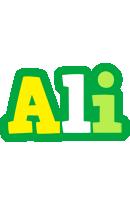 Ali soccer logo