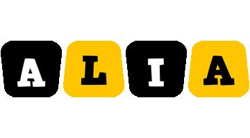 Alia boots logo
