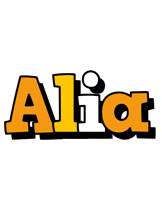 Alia cartoon logo