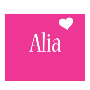 Alia love-heart logo