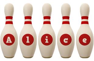 Alice bowling-pin logo