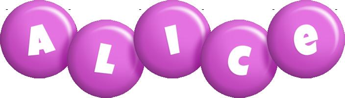 Alice candy-purple logo