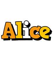 Alice cartoon logo