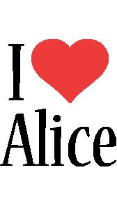 Alice i-love logo