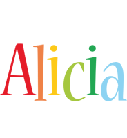 Alicia birthday logo