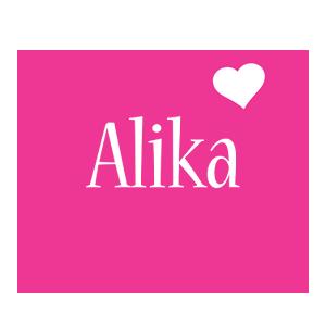Alika love-heart logo