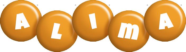 Alima candy-orange logo