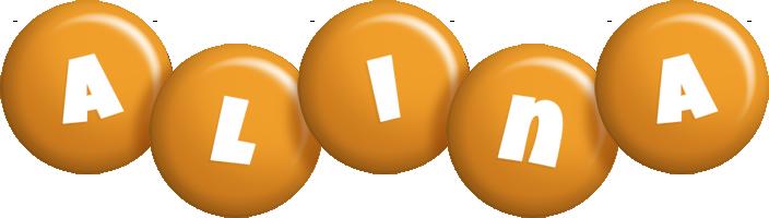 Alina candy-orange logo