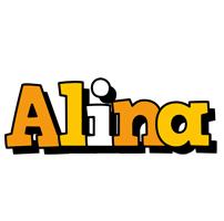 Alina cartoon logo