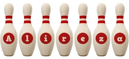 Alireza bowling-pin logo