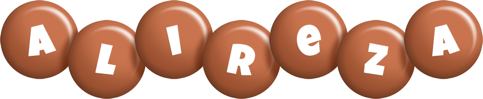 Alireza candy-brown logo