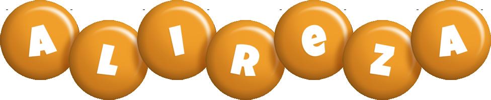 Alireza candy-orange logo