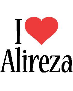 Alireza i-love logo