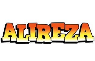 Alireza sunset logo